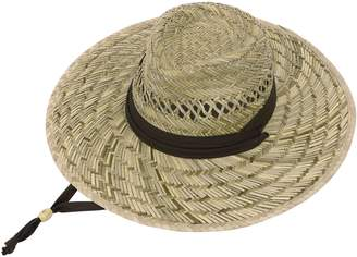 Simplicity Unisex Braided Fedora Sun Straw Hat with Hat Band & Adjustable Lanyard