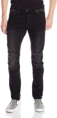 G Star Men's 3D Slim Fit Jean In Intor Black Stretch Denim