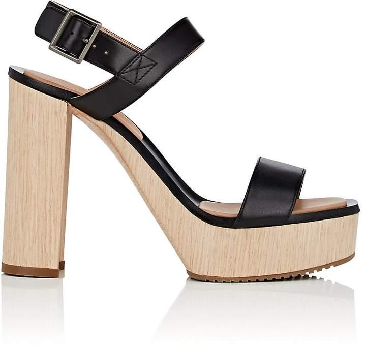 Calvin Klein CALVIN KLEIN WOMEN'S FAUNA BIS LEATHER PLATFORM SANDALS