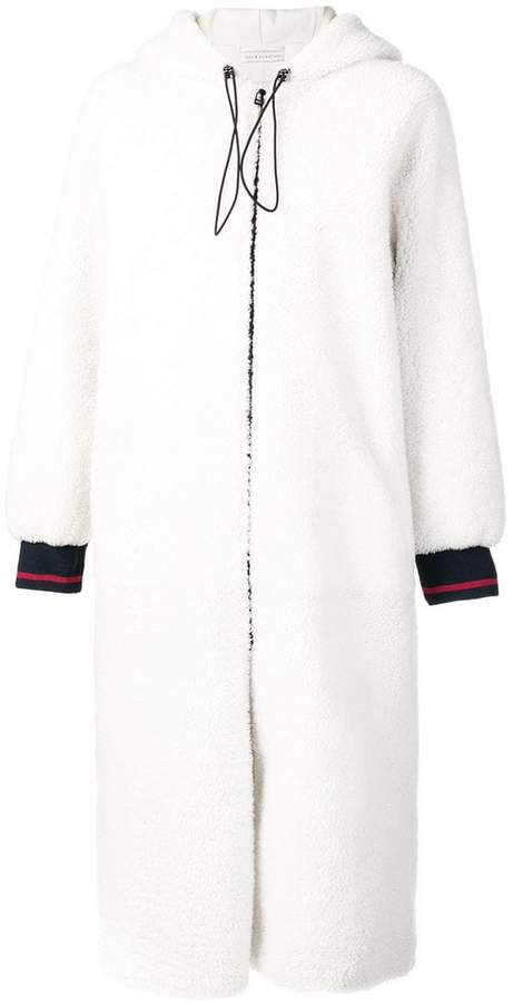 shearling long coat