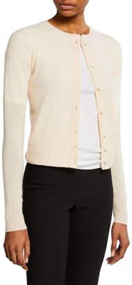 Vince Shrunken Cashmere Button-Front Cardigan