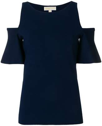 MICHAEL Michael Kors cold shoulder top