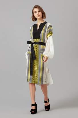 Amanda Wakeley Printed Crepe De Chine Tunic Dress