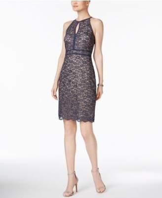 Night Way Nightway Lace Keyhole Sheath Dress