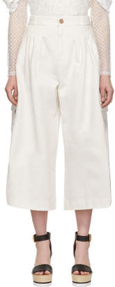 See by Chloe White Cargo Culottes