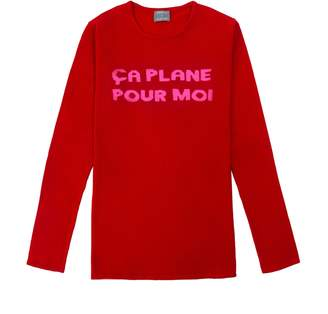 Pour Moi? Orwell + Austen Cashmere - Ca Plane Pour Moi Sweater Red & Pink