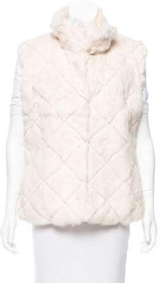 Glamour Puss Glamourpuss Mock Neck Fur Vest