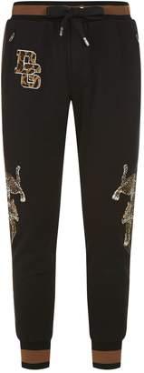 Dolce & Gabbana Leopard Appliqué Sweatpants
