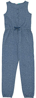 John Lewis & Partners Girls' Jumpsuit, Blue