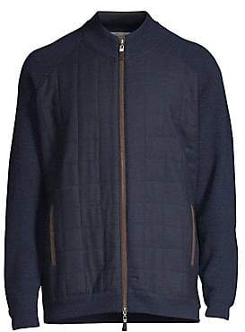 Peter Millar Men's Quilted Zip-Front Sweater