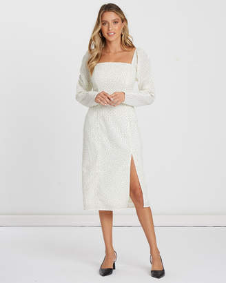 Milla Ruched Sleeve Dress