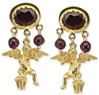 Vintouch Italy - Cherubini Garnet Earrings