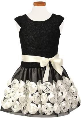Sorbet Floral Embellished Drop Waist Dress