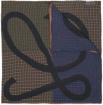 Loewe patchwork plaid scarf