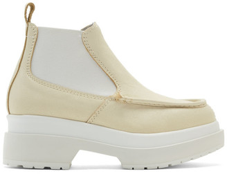 MM6 MAISON MARGIELA Off-White Double Sole Boots