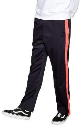 Topman Side Stripe Straight Leg Trousers