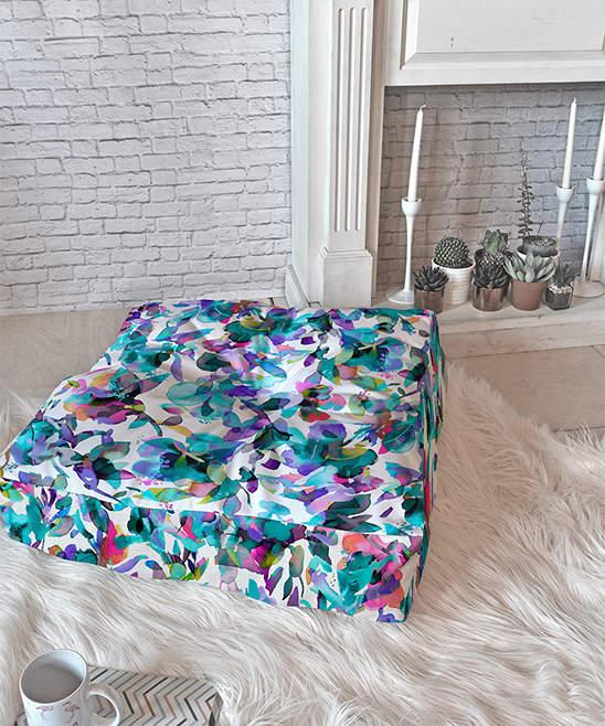 Ninola Aquatic Floral Floor Pillow