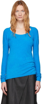 we11done Blue Velvet Round Neck Sweater