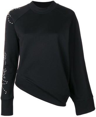 Y-3 Adidas X Yohji Yamamoto angled waist slogan sweater