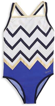 Catimini Little Girl's & Girl's Zigzag Swimsuit