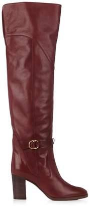 Chloé Lenny leather knee-high boots