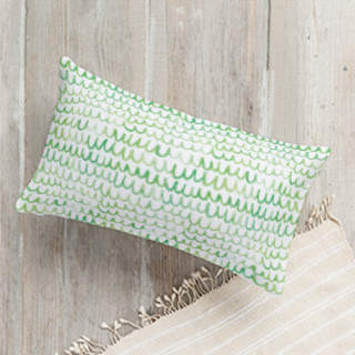 Watercolor Scallop Self-Launch Lumbar Pillows