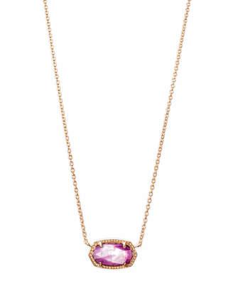 Kendra Scott Elisa Pendant Necklace in Rose Gold