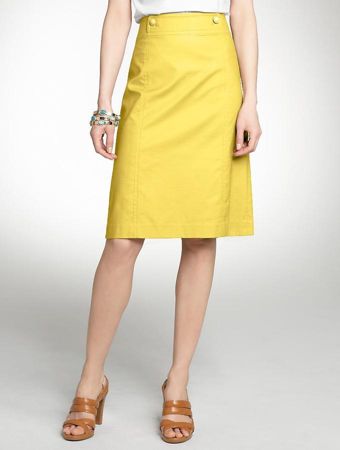 Piqué A-line skirt