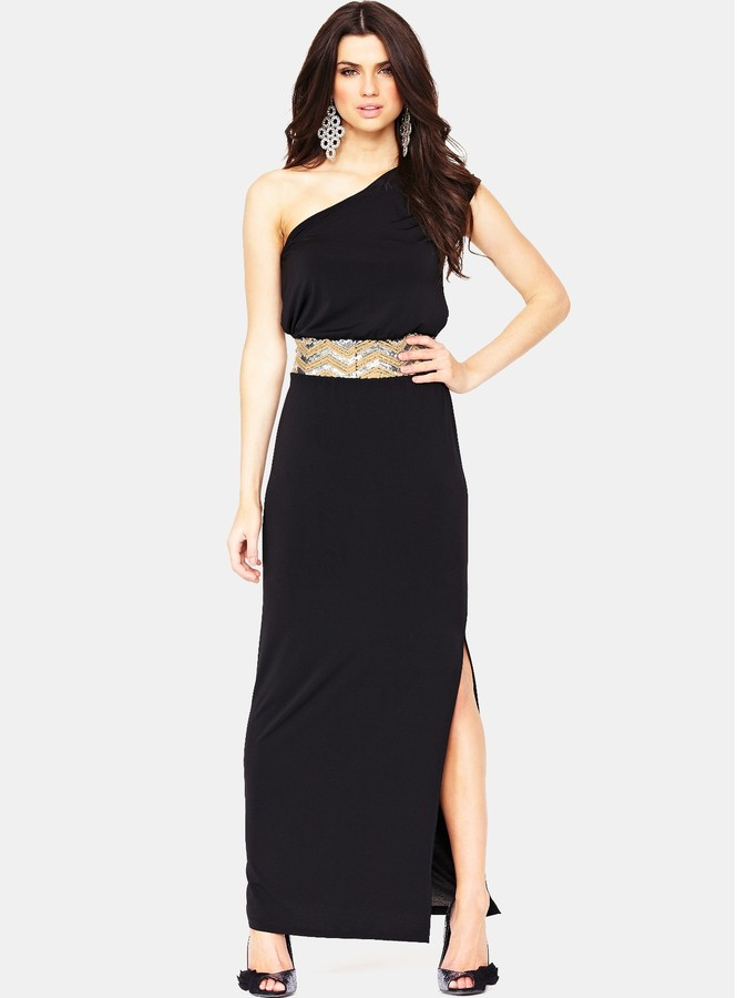 South Tall Draped One Shoulder Maxi Dress