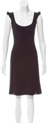 L'Agence Scoop Neck Knee-Length Dress