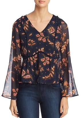 Vero Moda Joanna Printed Bell-Sleeve Top