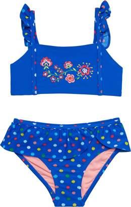 Hula Star Confetti Flower Two-Piece Bikini