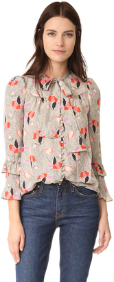Derek Lam 10 Crosby Blouse with Ruffle Sleeves $495 thestylecure.com