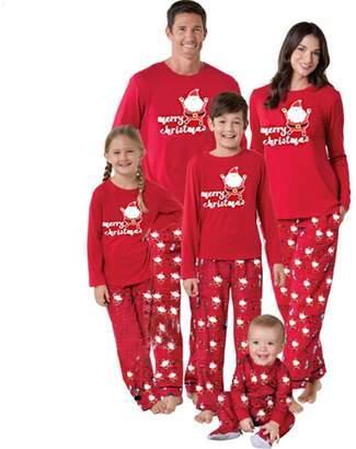 U-WARDROBE Christmas Santa Matching Family Pajamas