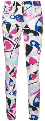 Emilio Pucci geometric print skinny trousers