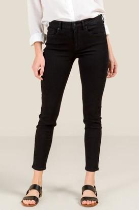 Harper Heritage Mid Rise Cropped Jeans - Black