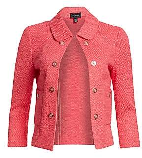 St. John Women's Beti Cropped Knit Collared Jacket