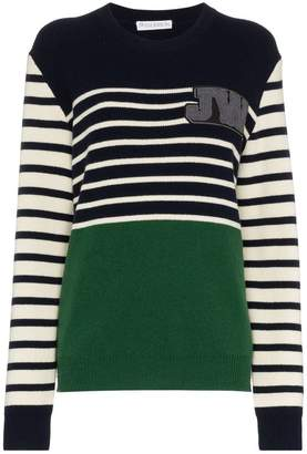 J.W.Anderson striped logo-patch jumper