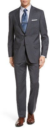 Men's Hart Schaffner Marx Classic Fit Check Wool Suit $995 thestylecure.com