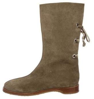 Jimmy Choo Round-Toe Suede Boots