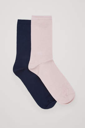 Cos TWO PAIRS OF COTTON SOCKS