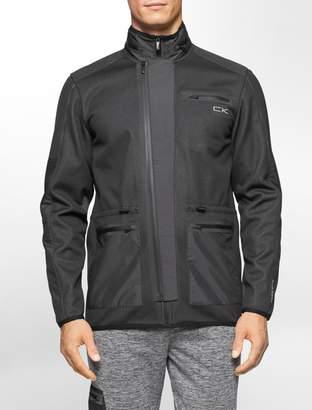 Calvin Klein hidden hood zip front jacket