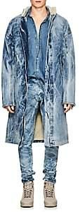 Fear Of God Men's Acid-Washed Denim Deck Coat - Lt. Blue