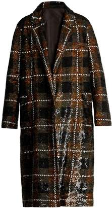 Ashish Checked sequin-embellished cotton coat