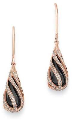 Bloomingdale's Black Onyx & Diamond Cage Earrings in 14K Rose Gold - 100% Exclusive