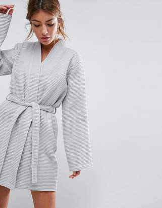 Asos Waffle Hotel Robe In 100% Cotton