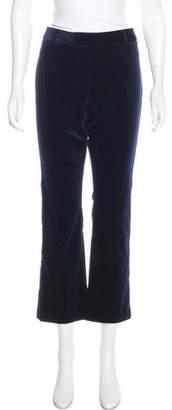 Frame Velvet Straight-Leg Pants