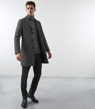 Reiss WHITTINGTON SALT AND PEPPER OVERCOAT Grey