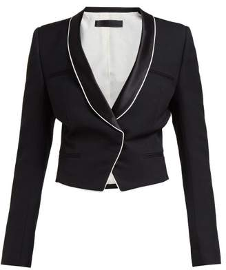 Haider Ackermann Single Breasted Wool Crepe Blazer - Womens - Black White
