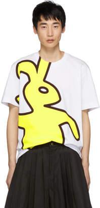 Marni Dance Bunny White Macro Bunny T-Shirt